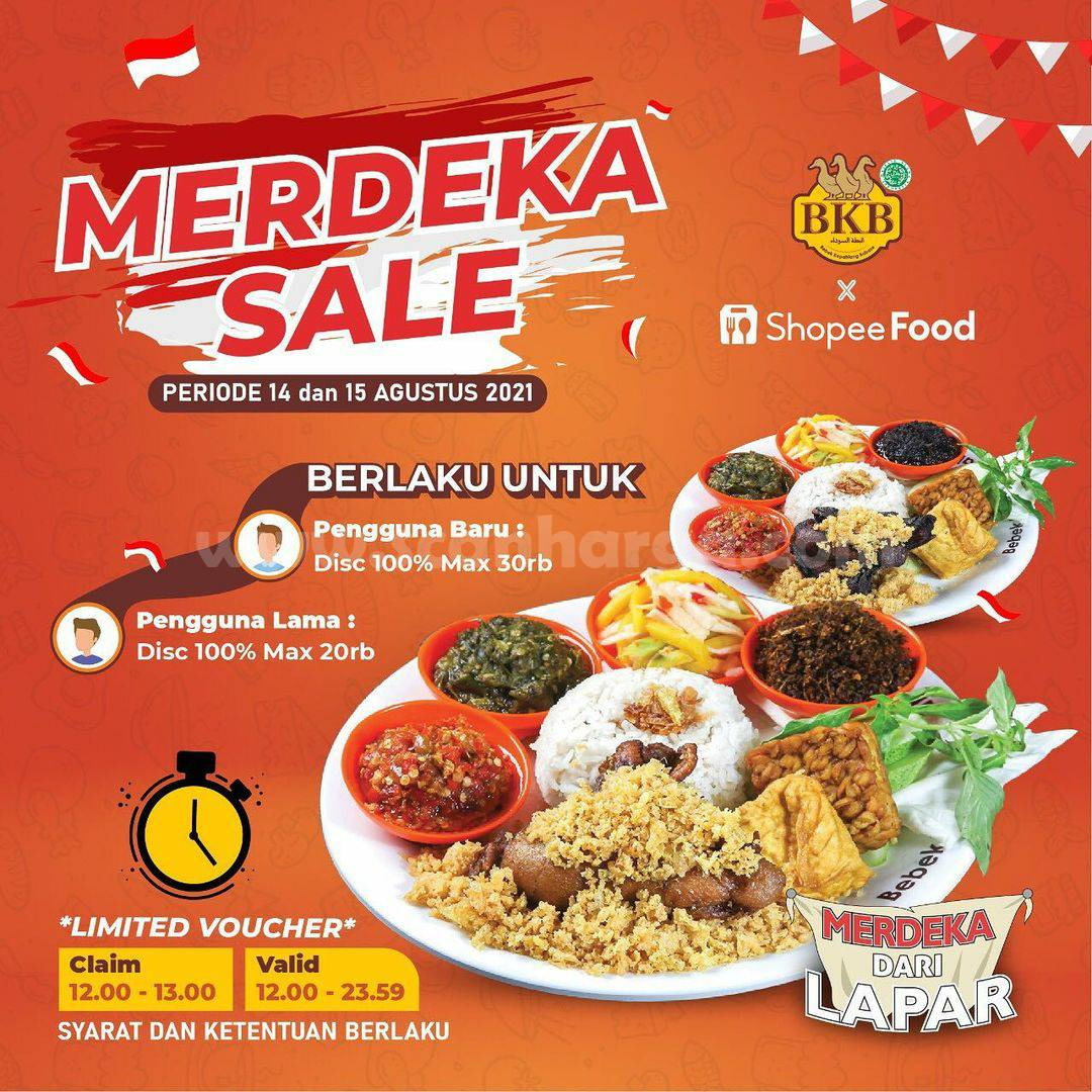 BEBEK BKB Promo MERDEKA SALE - Diskon 100% via ShopeeFood
